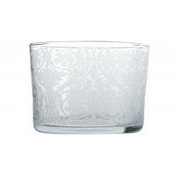6 Bicchiere ornato MERLETTO BASSO