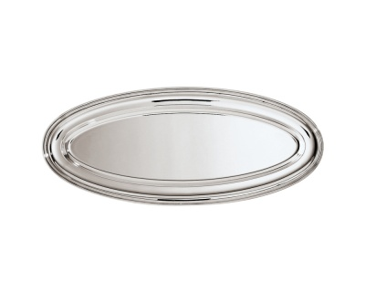 SAMBONET - CONTOUR Piatto Pesce 65x28 silverplated