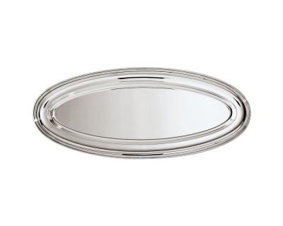 SAMBONET - CONTOUR Piatto Pesce 74x29 silverplated