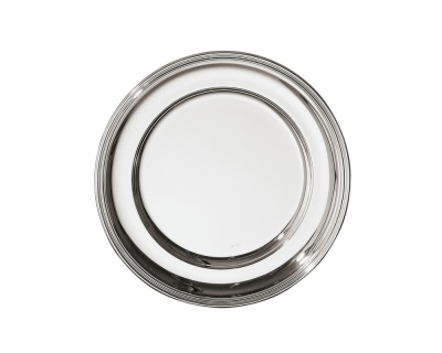 SAMBONET - CONTOUR Piatto Tondo 31cm silverplated