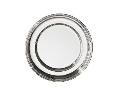 SAMBONET - CONTOUR Piatto Tondo 36cm silverplated