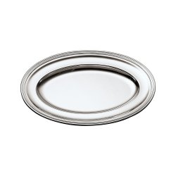 SAMBONET - CONTOUR Piatto Ovale 47x30 silverplated