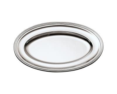 SAMBONET - CONTOUR Piatto Ovale 47x30 silverplated