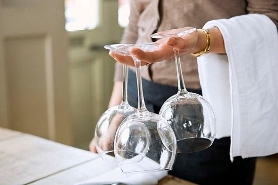 pulizia dei calici vino