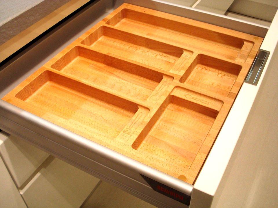 Portaposate legno per cassetti portaposate legno per for Accessori per cucina in legno