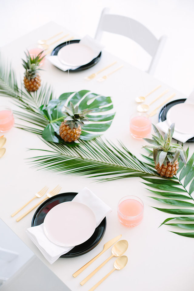 Apparecchiare una tavola estiva elegante